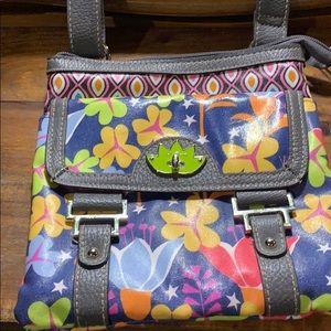 Lily Bloom cross body bag EUC.